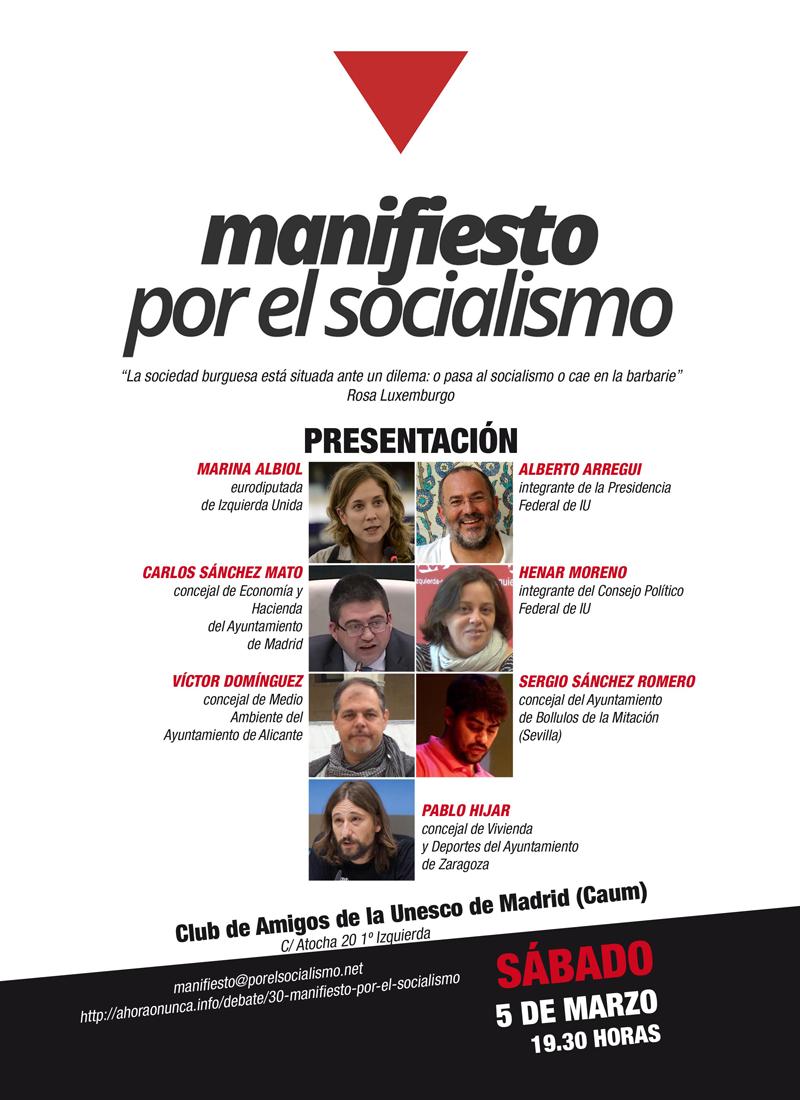Presentación Manifiesto por el Socialismo